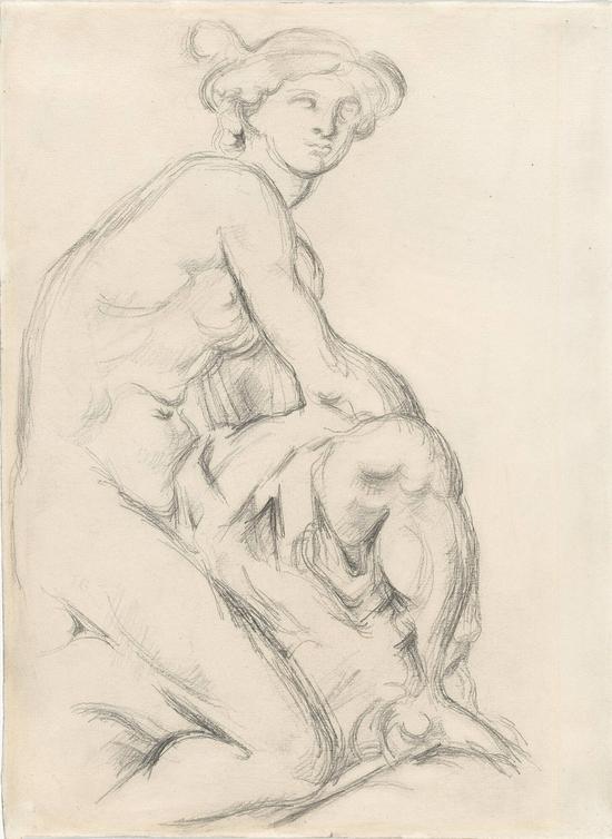 塞尚,《仿皮加勒的墨丘利》 ,约1890年