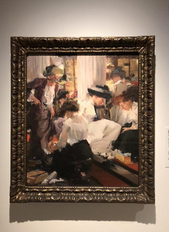 伊丽莎白·斯巴霍克·琼斯《鞋店》 约1911年 芝加哥艺术博物馆