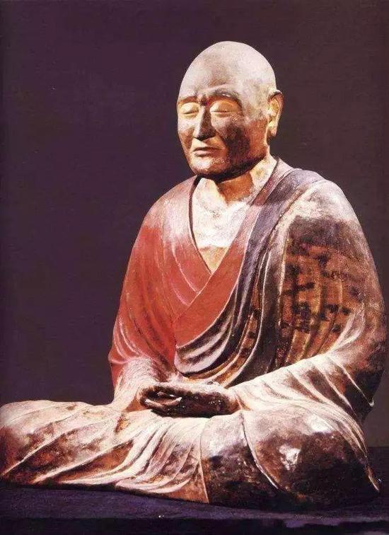 """日本国宝——用""""脱活干漆""""法制作的鉴真坐像"""