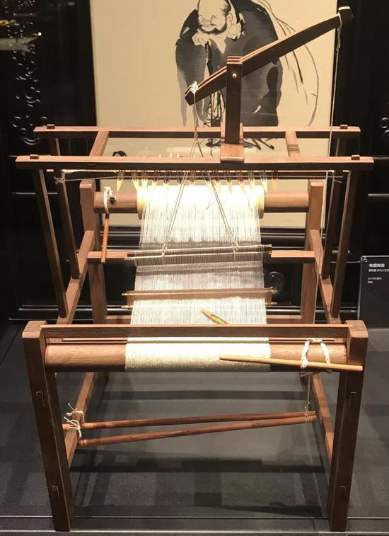 缂丝机模型