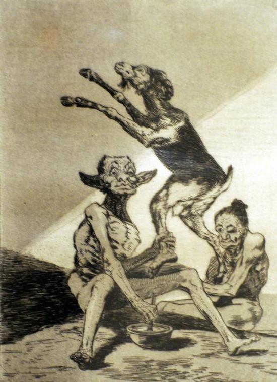 弗朗西斯科·德·戈雅《奇想集》中的版画
