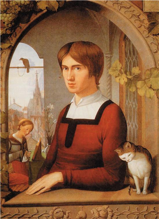 弗里德利希・奥韦尔贝克 弗朗茨・普福尔肖像 布面油画 1810年