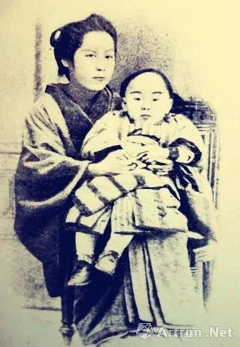 苏曼殊与养母河合仙