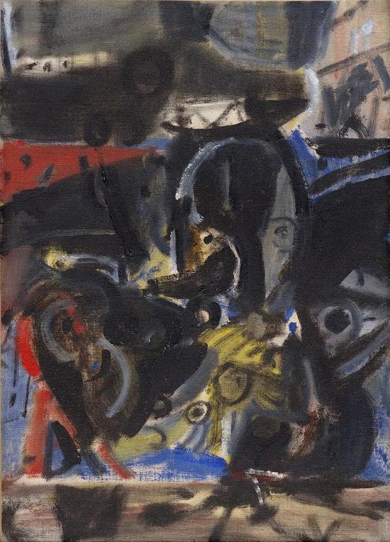 《无题111》 吴大羽 布面油画 52.7×37.8cm 约1980年