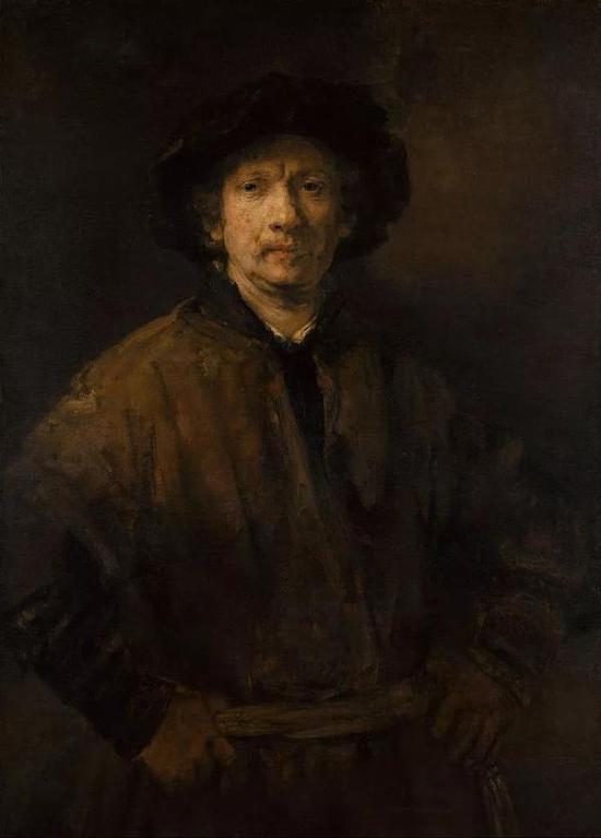 伦勃朗,《自画像》,布面油画,1652年,维也纳艺术博物馆