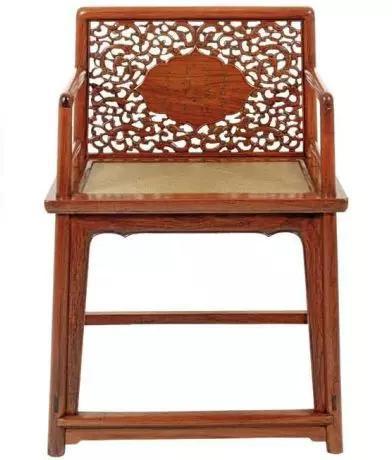 黄花梨透雕靠背玫瑰椅 比利时布鲁塞尔侣明室藏品