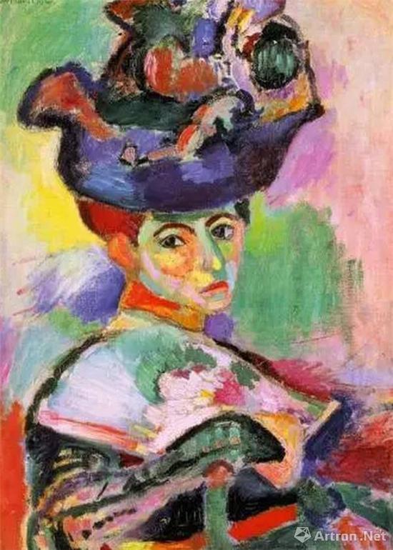 马蒂斯《戴帽子的妇人》