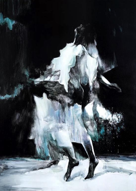 余润德,模糊的光芒之五,140×100cm,布面丙烯,2014
