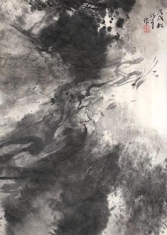 《飓风》水墨画 纸本水墨 45x33cm 2018