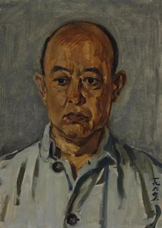 苏高礼  父亲像  纸板油画  52X37cm  1964年