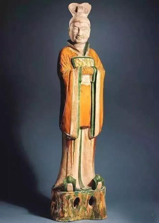 唐朝彩釉陶俑