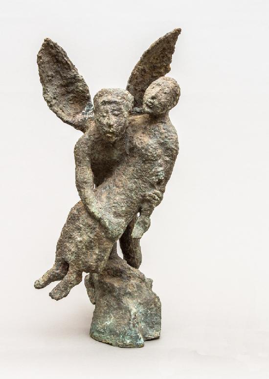 V.B索斯基耶夫,《诱拐》,铸铜,1986年,俄罗斯国家东方民族艺术博物馆藏