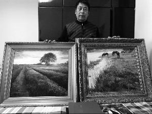 连云港男子生活困难画家同学送两幅珍贵油画