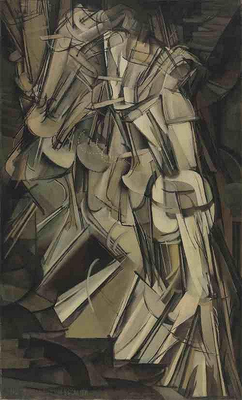 杜尚,下楼梯的裸女,1912,收藏于费城艺术博物馆