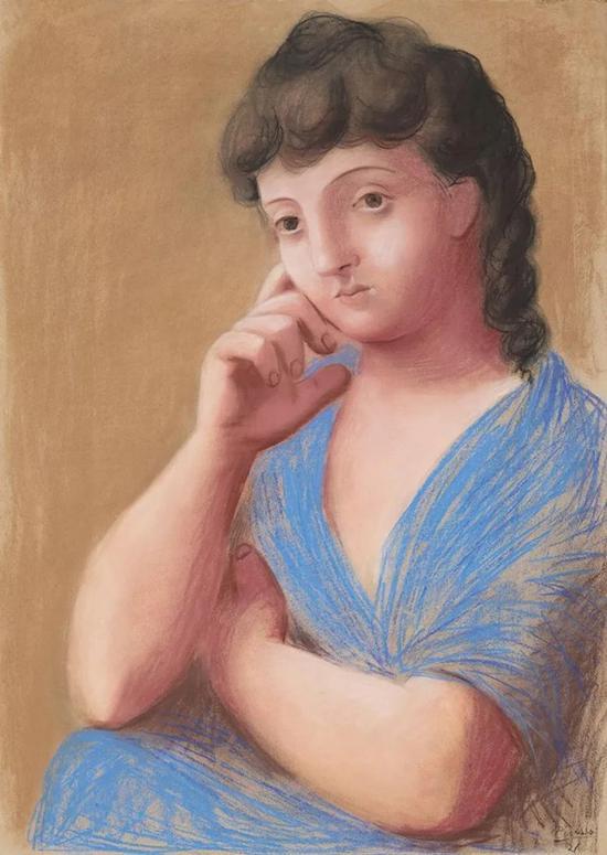 毕加索《斜靠着的女人》粉彩 纸本 104.7 x 75 cm 1921年作 成交价:1212.5万美元