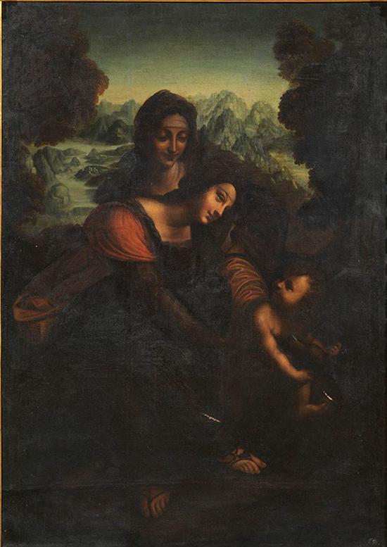 李奥纳多·达·芬奇工作室 意大利 圣安娜 161×115cm 布面油画 16世纪或17世纪初