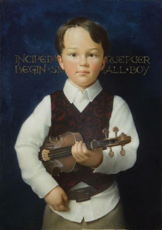Koo Schadler, Boy with Violin J。 Cacciola Gallery