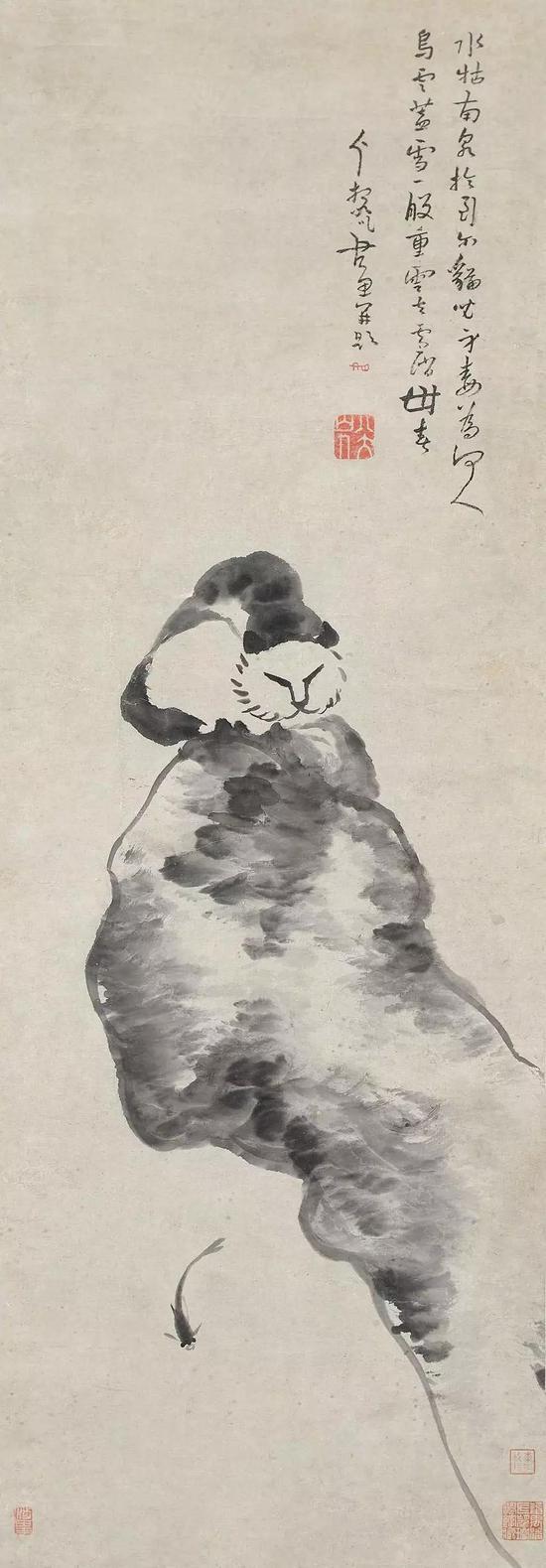 《猫石图》