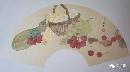 王美嘉 《蔬果写生》28x58cm 2016