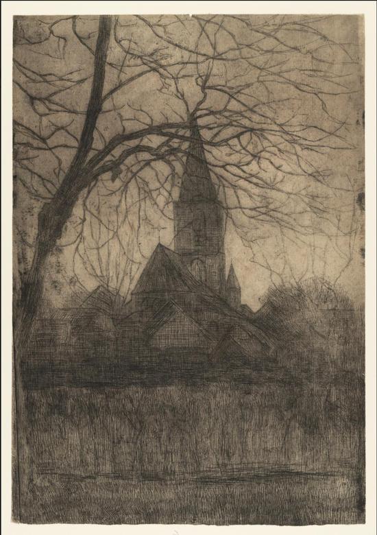 《教堂》Reformed Church at Winterswijk1898