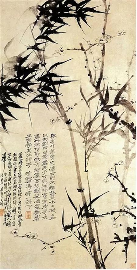 清 石涛 墨竹 代表文人画风格