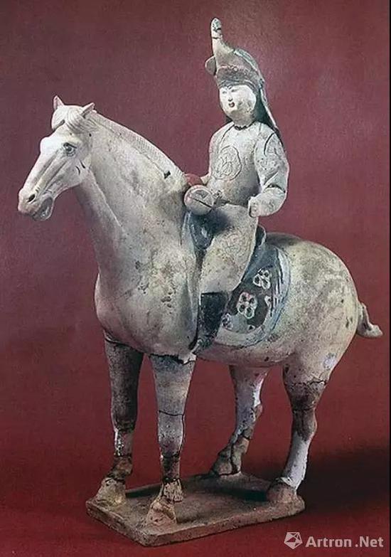 唐 三彩骑马女俑