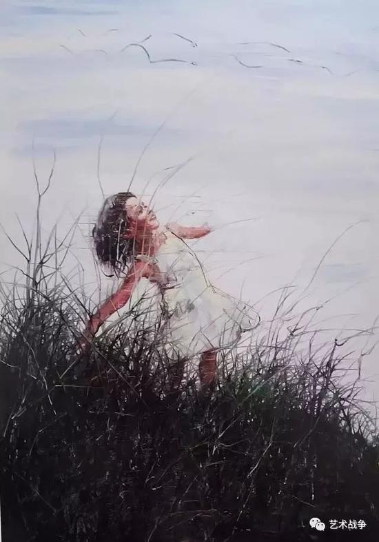 (王中军收藏:曾梵志 《天空》2006年作品)