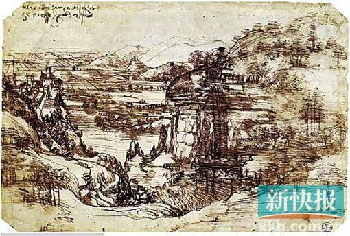 达·芬奇已知最早的绘画,1473年。