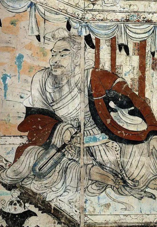 ▲唐朝壁画 《维摩诘经变图》