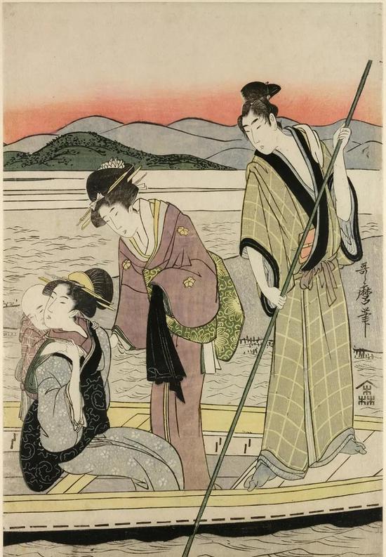 《风俗画》,喜多川歌麿(1753?1806),彩色木刻版画