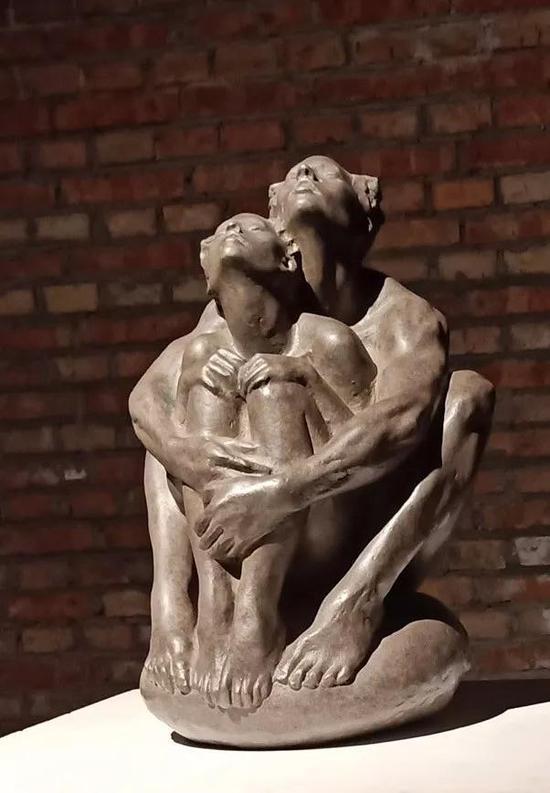 张若愚 《天地人》 材质铸铜 35x20×20cm 2016