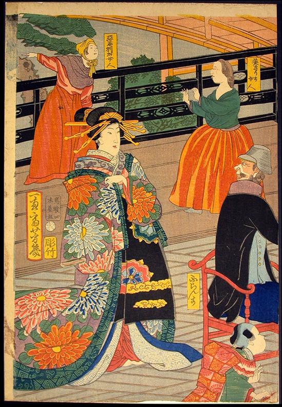 《五国人民宴会图》,1860
