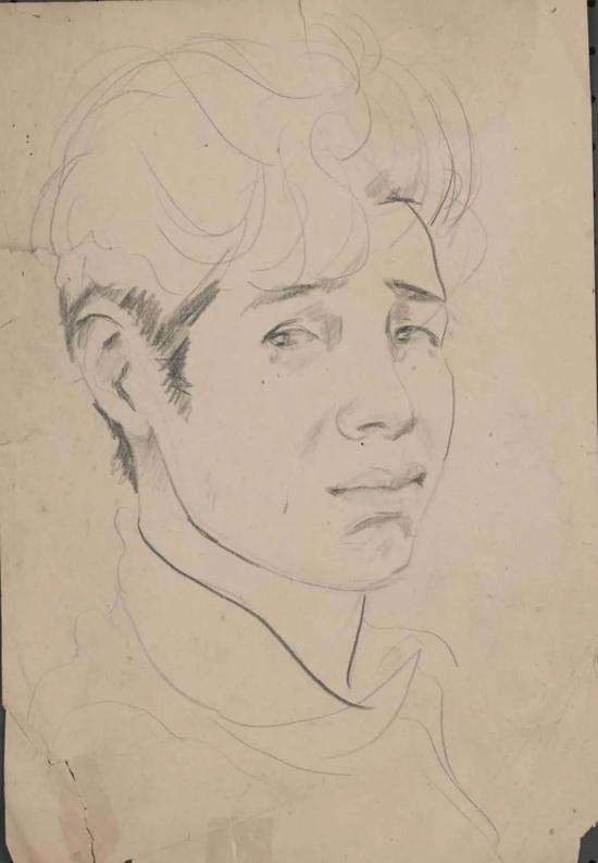潘鹤 自画像 1943-1944年