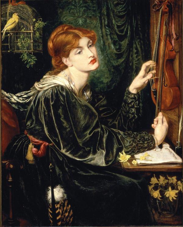 但丁·罗塞蒂《维罗妮卡·委罗内塞》(Veronica Veronese,1872),现藏美国特拉华艺术博物馆