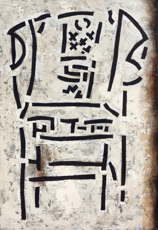 王怀庆《1234567》油彩画布