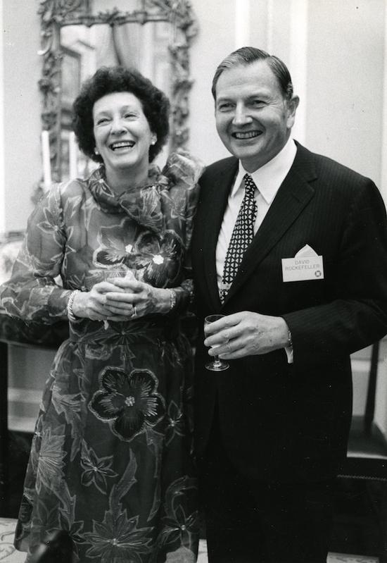 大卫·洛克菲勒夫妇肖像