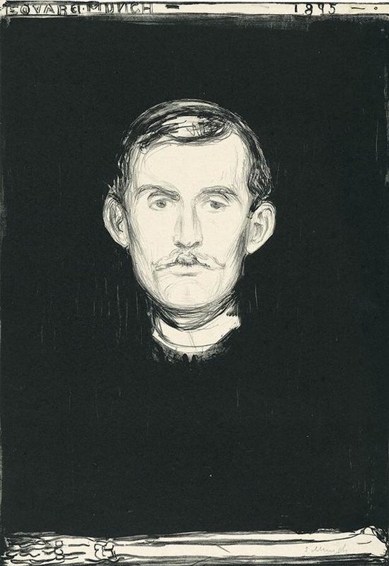 自画像 1895年 石版画