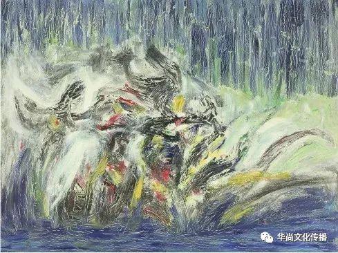 凤舞的雨花 120cm× 90cm (布面油画)