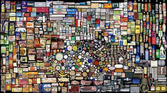 """洪浩的摄影作品《结算2007年B》""""我的东西""""系列"""