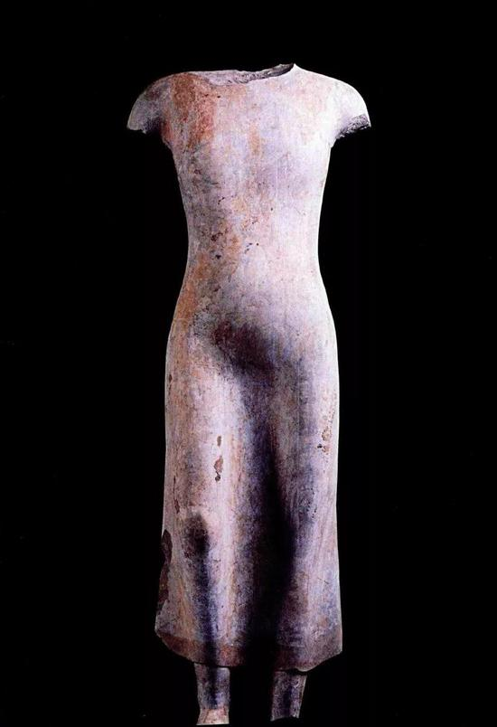北齐立佛造像(残),山东青州龙兴寺出土,青州博物馆藏