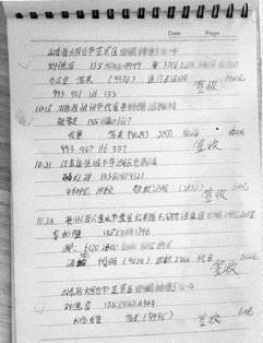 图①:曹雪玲的账本