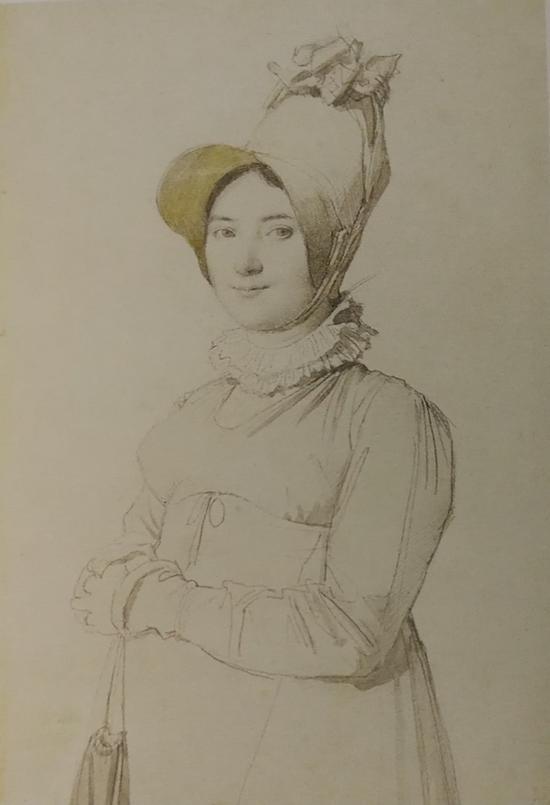 J-A-D·安格尔(1780-1867)《玛德莱娜·夏贝尔肖像》,1814 年,蒙托邦,安格尔博物馆。
