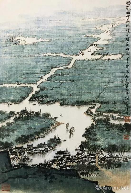 常熟田(国画) 52.8×35.7厘米