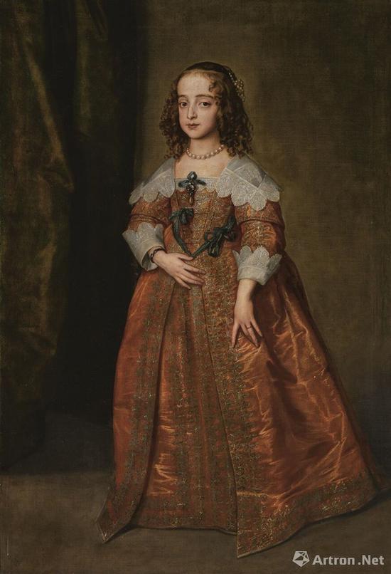 凡·戴克爵士《长公主及奥兰治王妃玛丽肖像(1631-1660年)》79万英镑