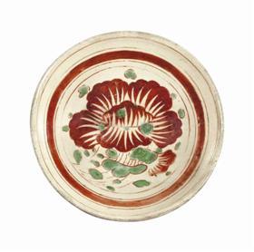 临宇山人珍藏的第一件磁州窑器物——金代磁州窑红绿彩花卉纹碗,成交价13750美元,约合人民币91768元