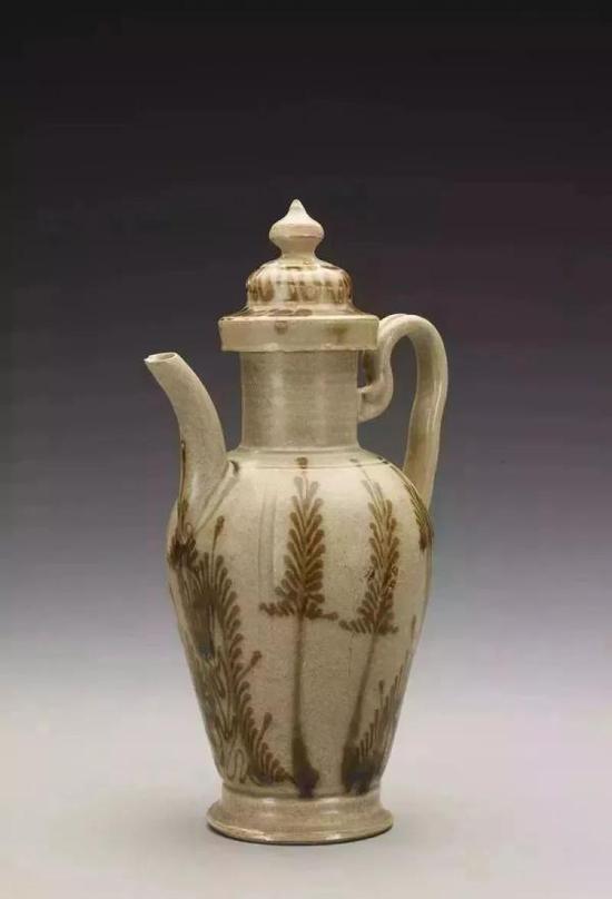 瓯窑青瓷褐彩植物纹注子 温州博物馆镇馆之宝