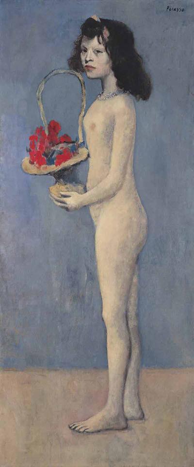 巴布罗·毕加索《拿着花篮的女孩》1905年