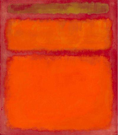 《橙色,红色,黄色》 马克·罗斯科
