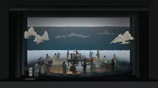韩生 话剧《苏东坡》 舞台设计 1