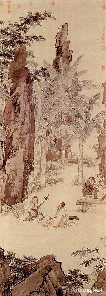 """图5 明 仇英 蕉阴结夏图 台北""""故宫博物院""""藏"""